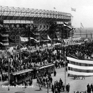 Rotterdam, feyenoord Kuip, openingswedstrijd 1937, uitgeverij voet