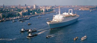 Historisch Rotterdam, SS Rotterdam 1967 op de Nieuwe Maas,  Harry Mosch