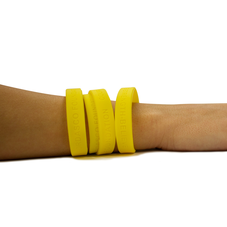 KCSY Yellow Rubber Bracelets