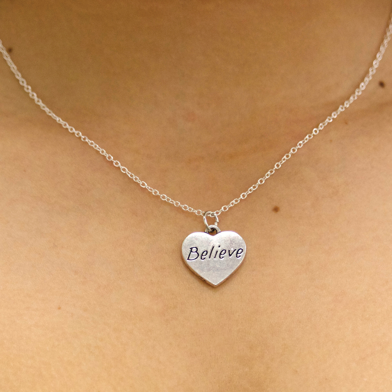 Believe Heart Necklace
