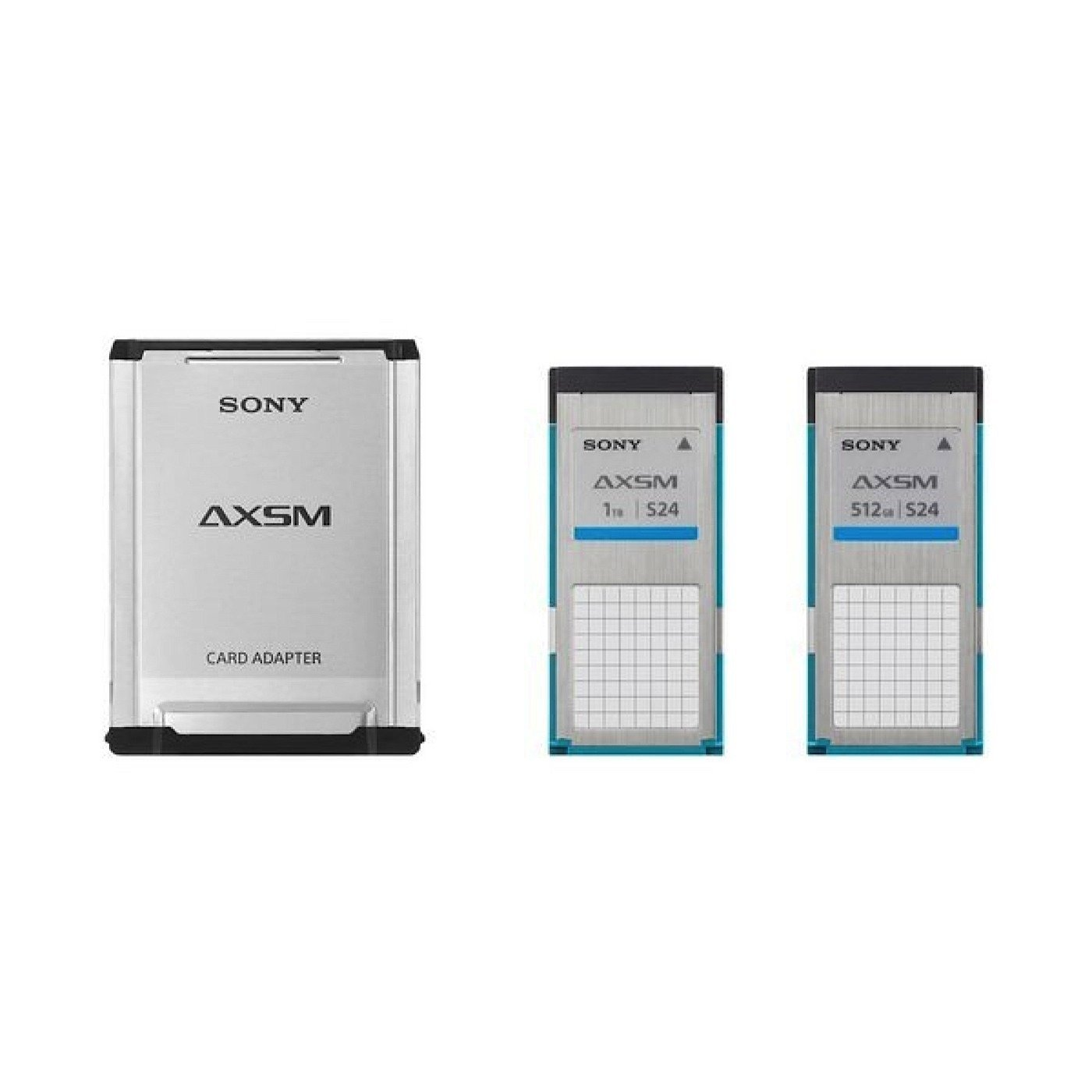 2 - Sony AXSM 512 GB Memory Cards w/USB 3.0 Card Reader Package