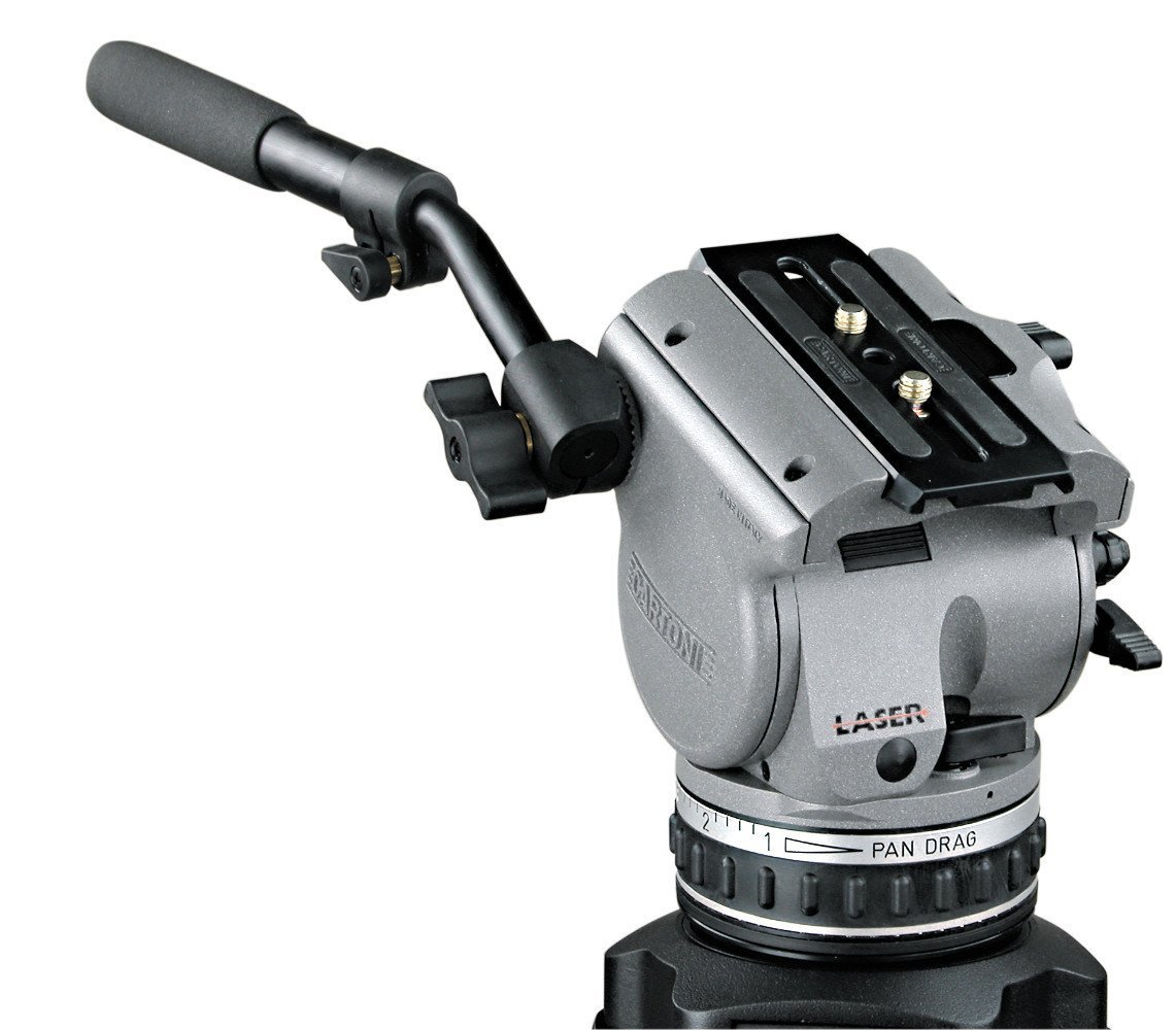 Cartoni Laser 100mm Ball Fluid Head w/Cartoni Standard Tripod w/Mid-Level Spreader