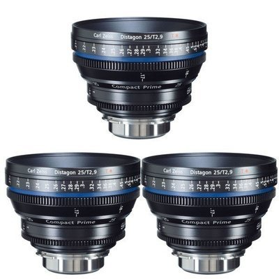 Set of Zeiss Compact Prime Super Speed PL Mount Lenses (35mm; 50mm; 85mm; All T1.5)