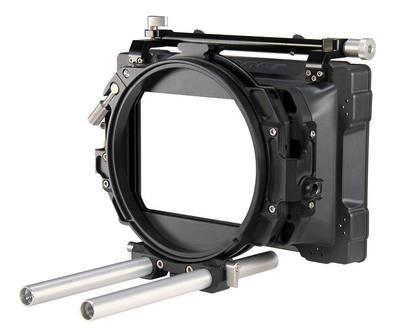 "O'Connor O-Box 4"" x 5.65"" 2-Stage Mattebox 15mm LWS w/pair 9.5 x 15mm Rods"