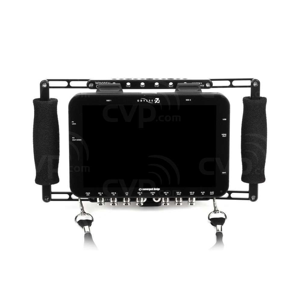 "7"" Director's Monitor w/ Handles, Strap, Gold Battery Mount"