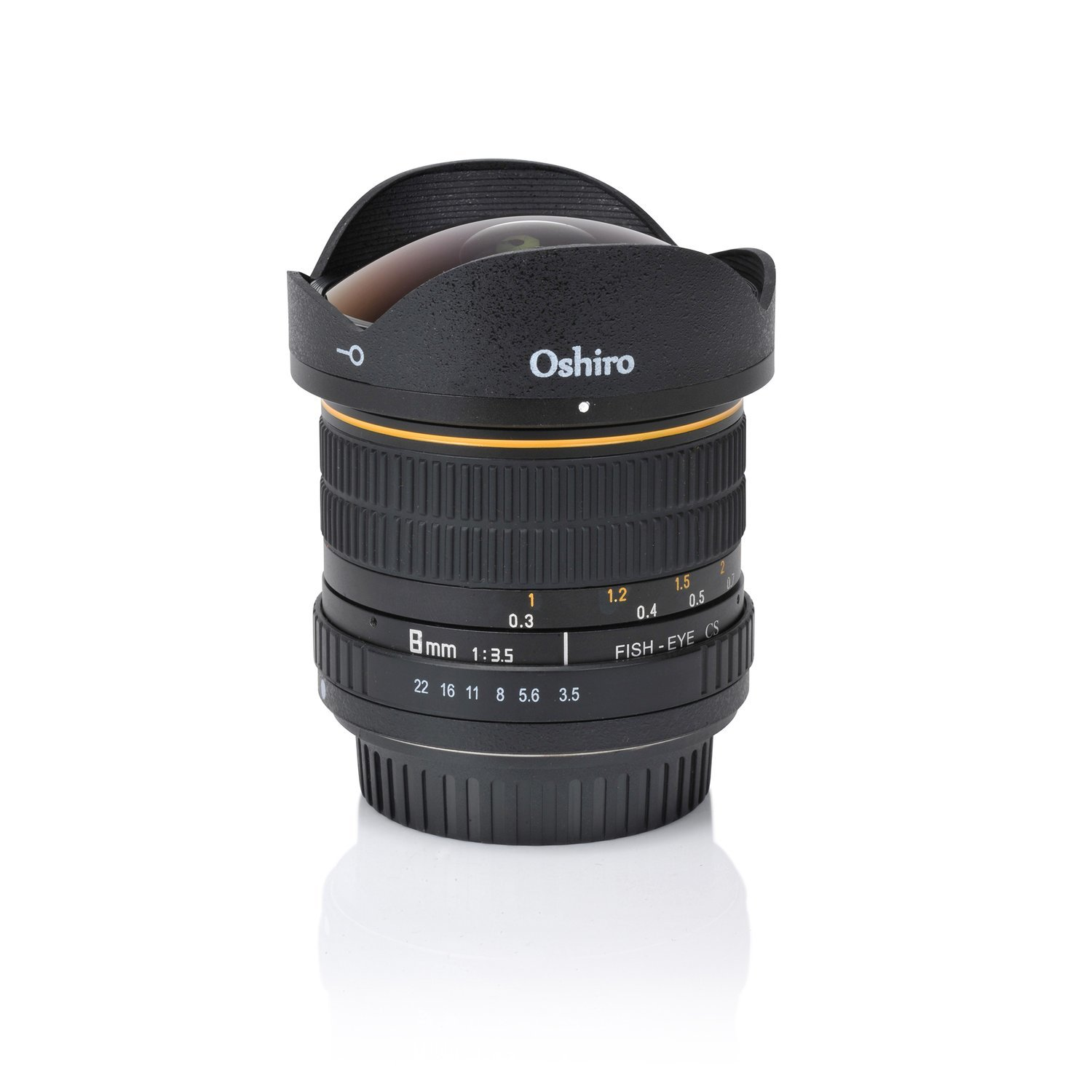 Oshiro 8mm Fisheye CS Lens F3.5 - Nikon F-Mount