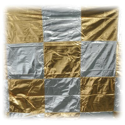 12' x 12' Gold/Silver Checkerboard Lame (Lisa Marie)