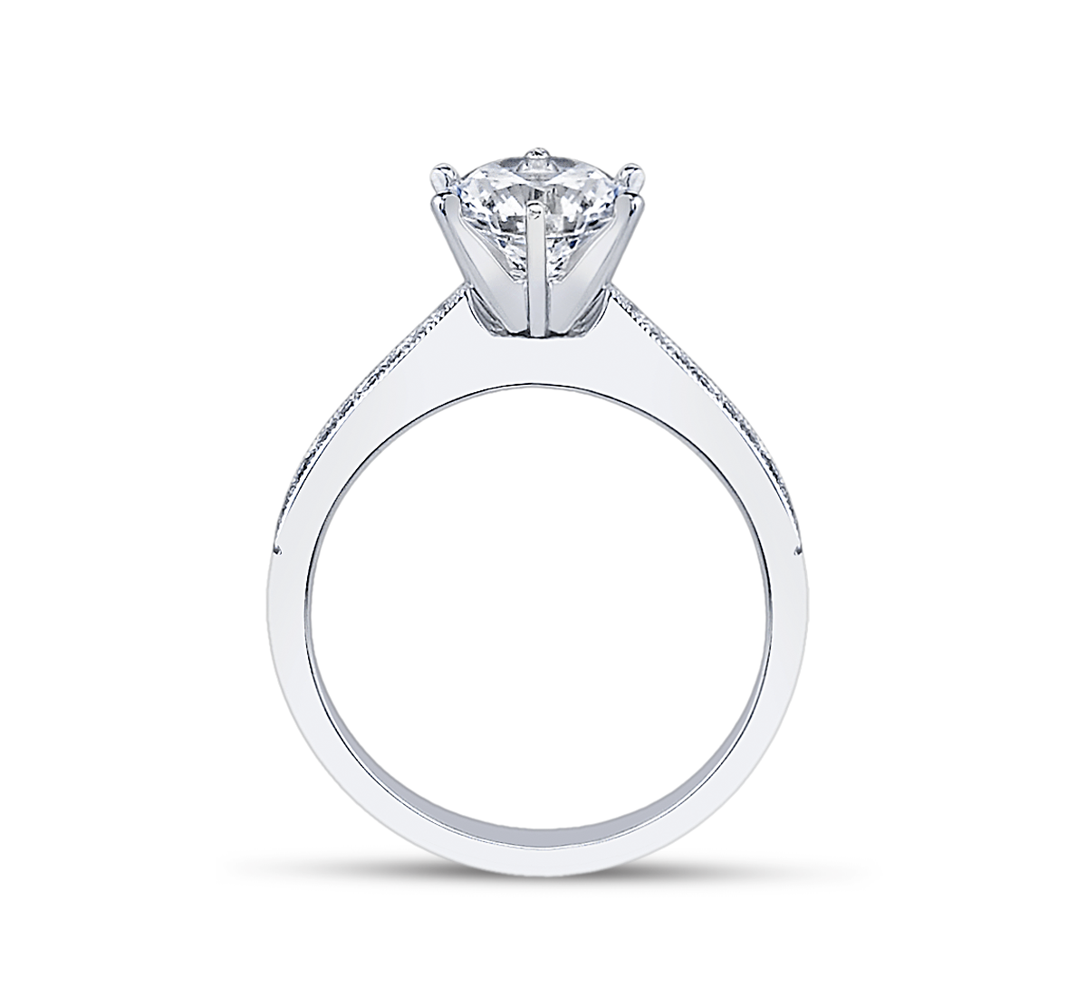 jewellery products trilogy curved engagement in moira shaped jewelry with radiant platinum shoulders fine ring edinburgh patience cut diamond pear