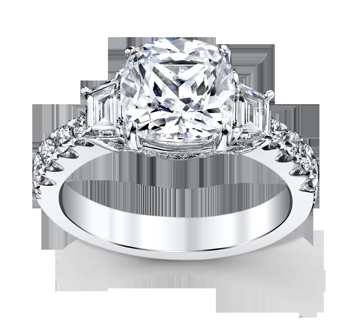 premier by 14k white gold diamond engagement ring setting