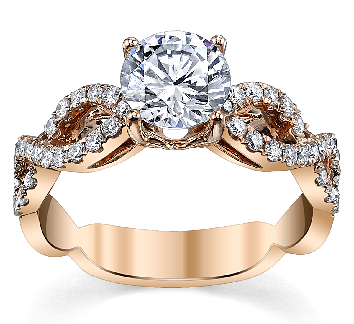 jewellery tw micropave in p twist micropav gold infinity ct engagement diamond white rings ring and