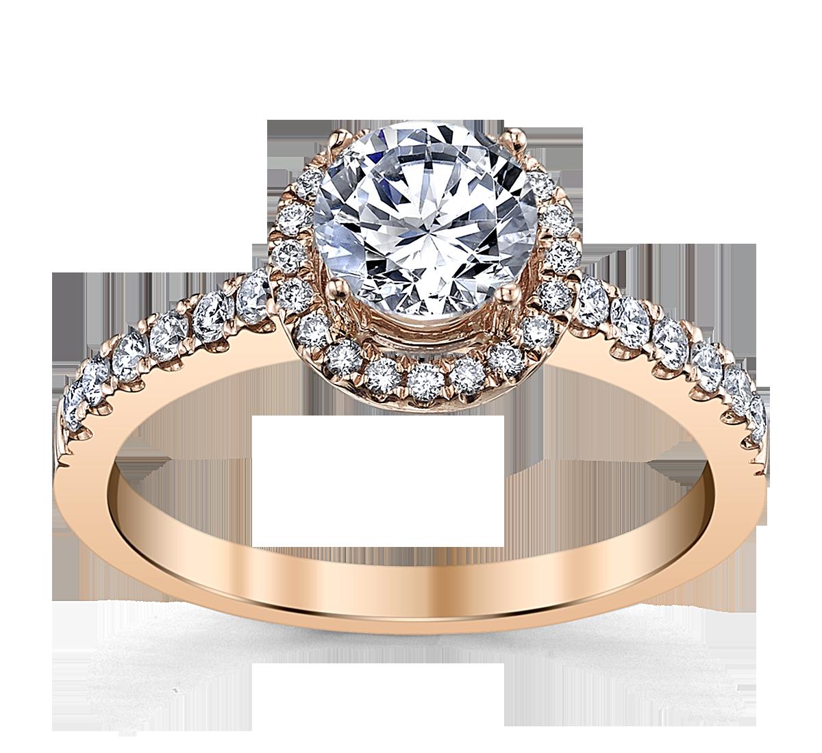 Vintage wedding rings new york - 14k Rose Gold Diamond Engagement Ring Setting 1440