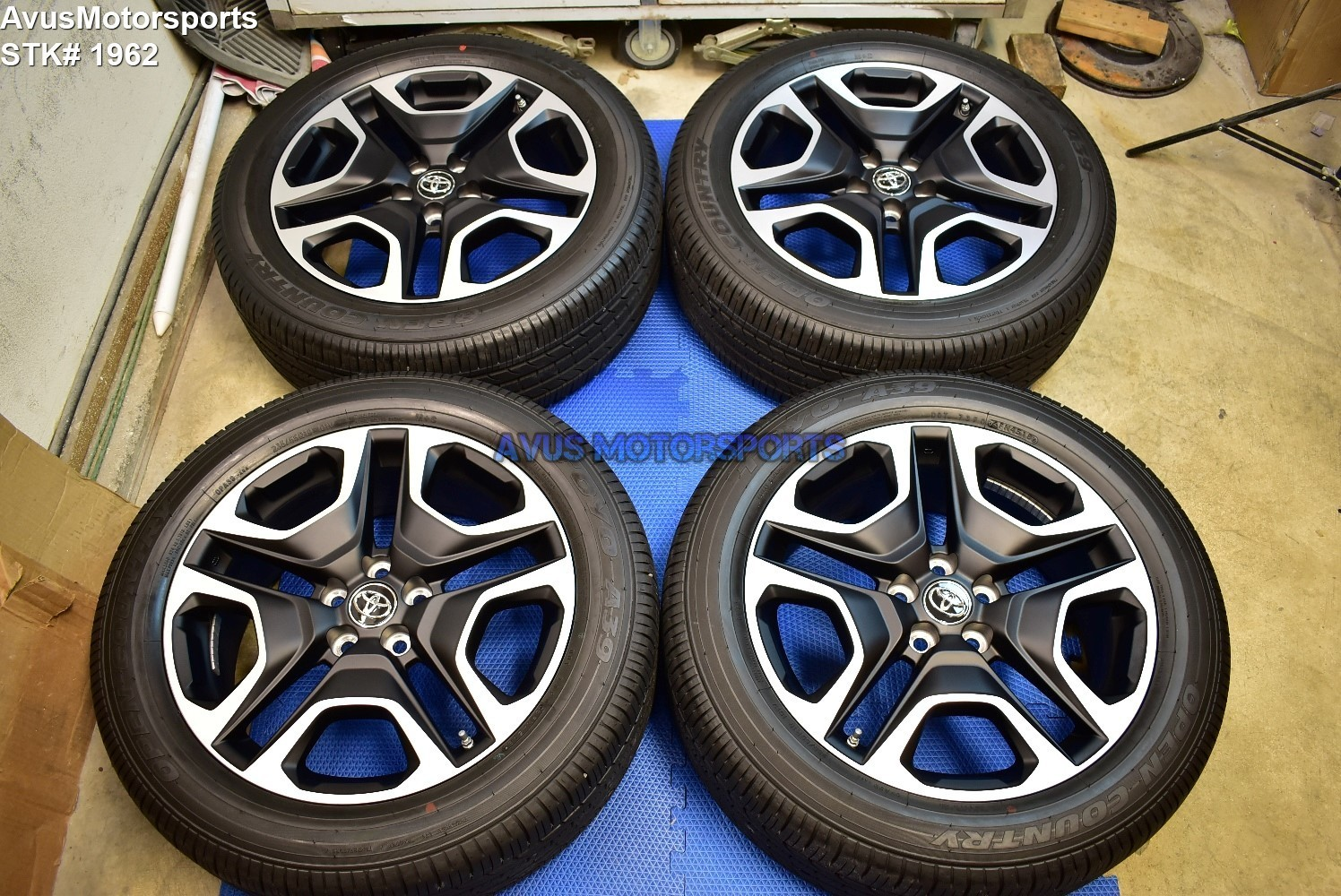 "19"" Toyota Rav4 Adventure OEM Factory Black Wheels & Tires 235/55r18 + TPMS 2019"