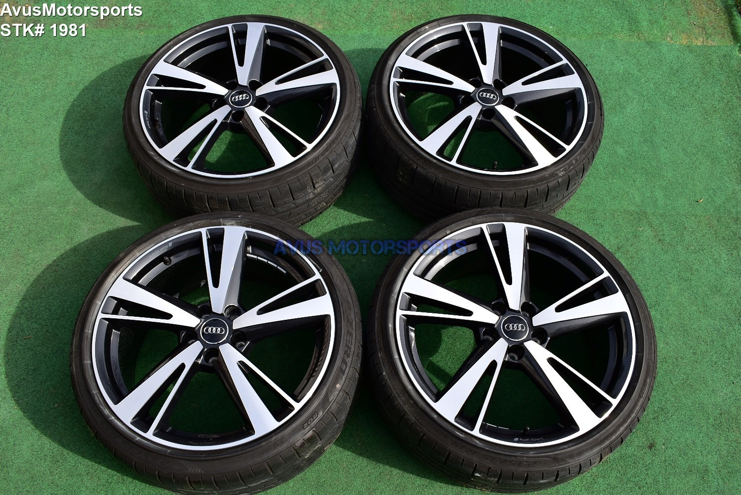 "19"" Audi RS3 Factory OEM Genuine Arm Blade BBS Wheels & Tires S3 Staggered 2018"