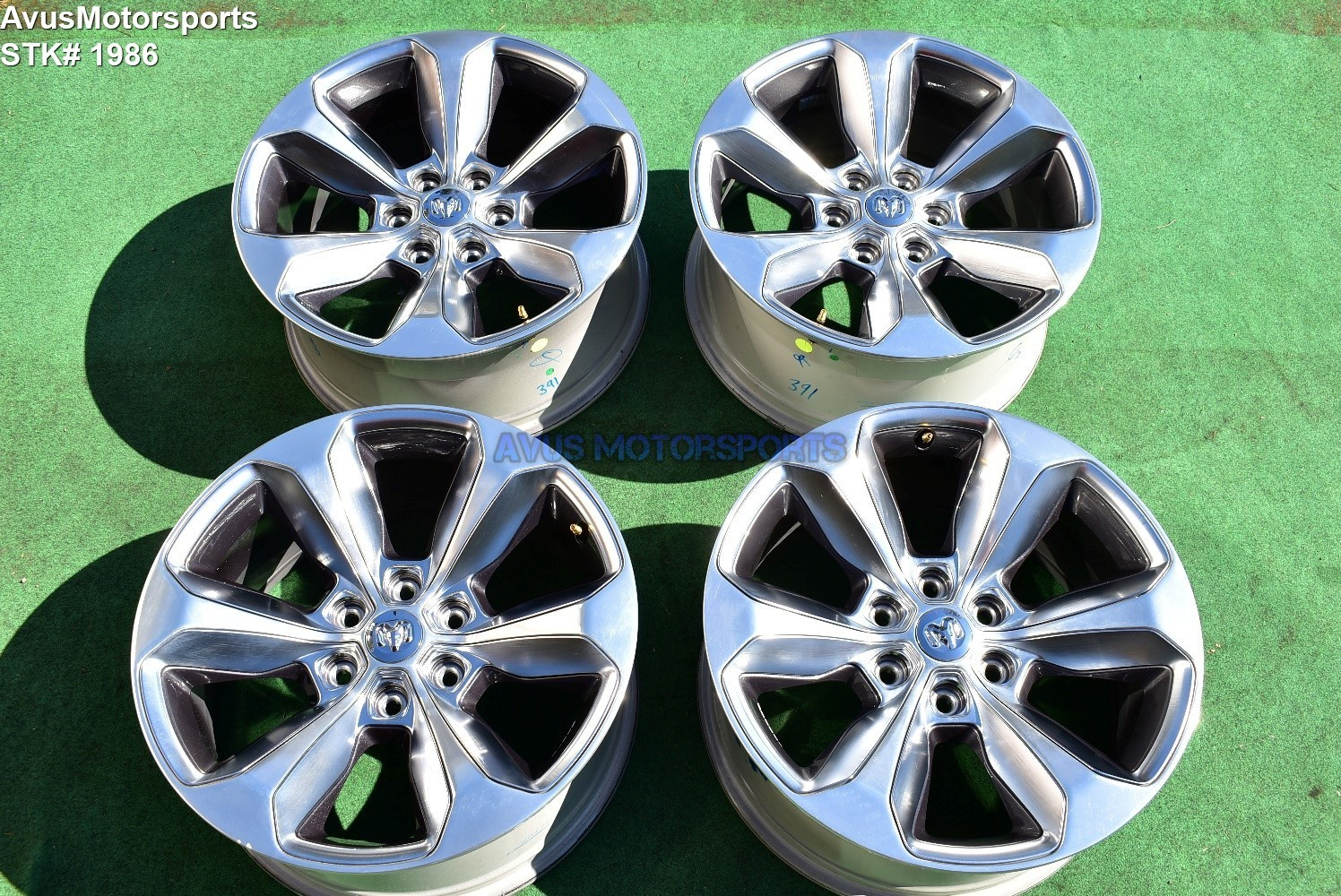 "20"" Dodge Ram Limited OEM Factory Polished Wheels 1500 Genuine 2019"