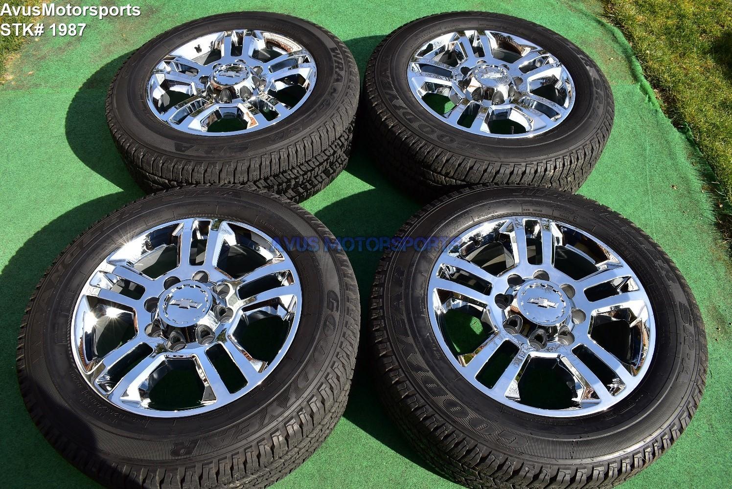 "20"" Chevy Silverado High Country GMC Sierra 2500 3500 OEM WHEELS TIRES  chrome"