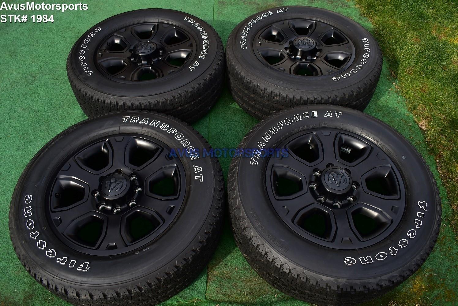 "20"" Dodge Ram Night Edition OEM Factory Black Wheels Tires  2500 3500 2018 2019"