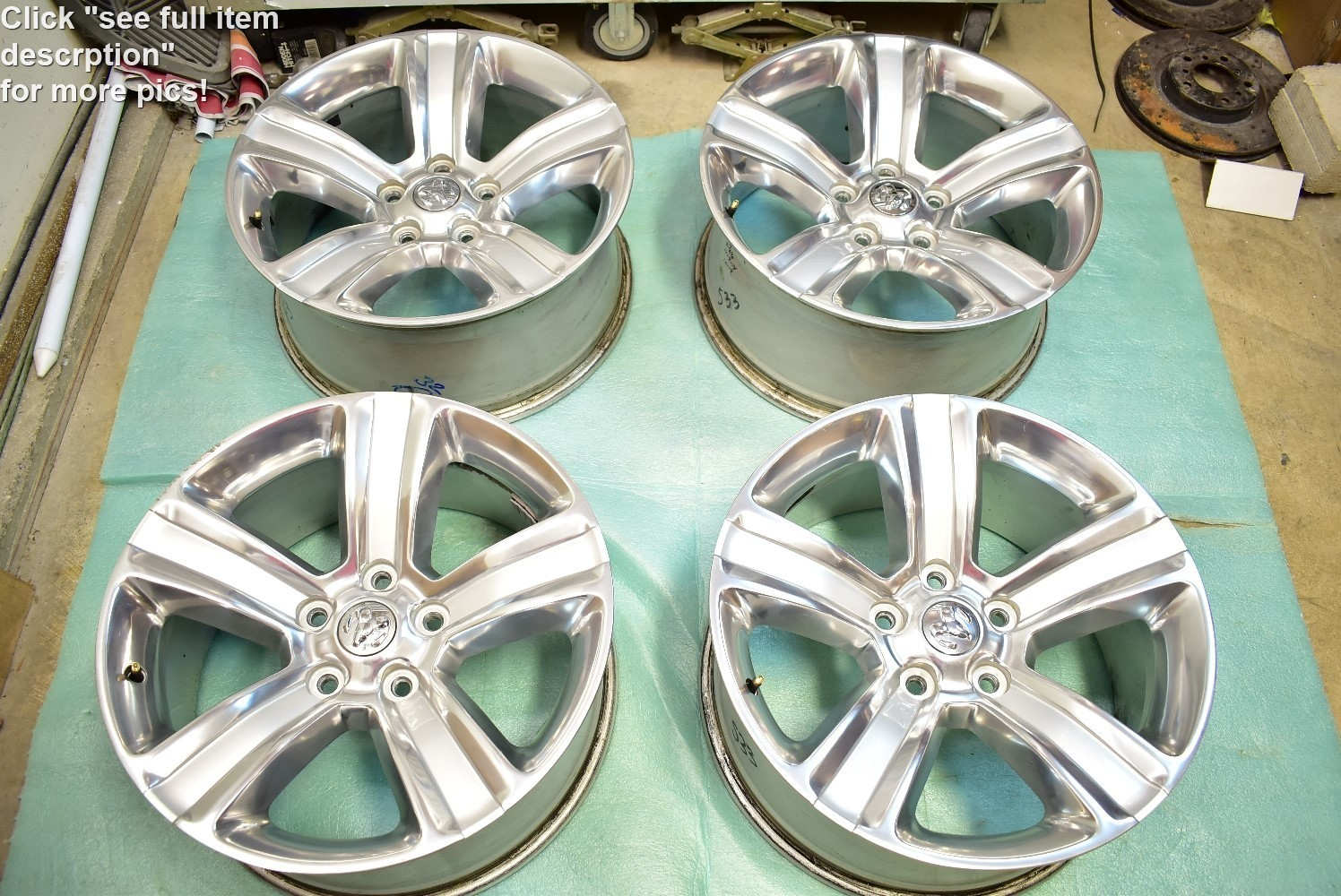 "20"" Dodge Ram Sport OEM Factory Polished Wheels 1500 Dakota 2014 2015 2013"