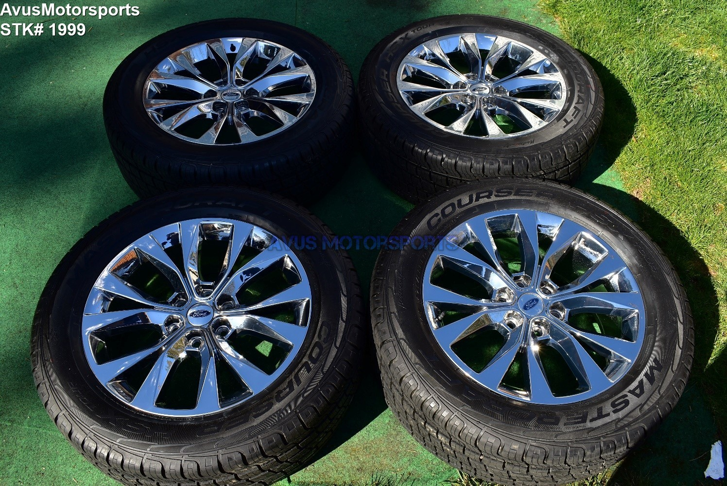 "20"" Ford F150 OEM Factory Chrome PVD Wheels & Tires Expedition 2016 2017"