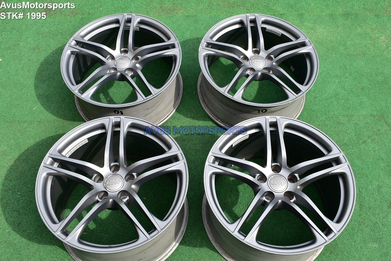 "19"" Audi R8 GT V8 V10 Plus Factory OEM Wheels charcoal gray"