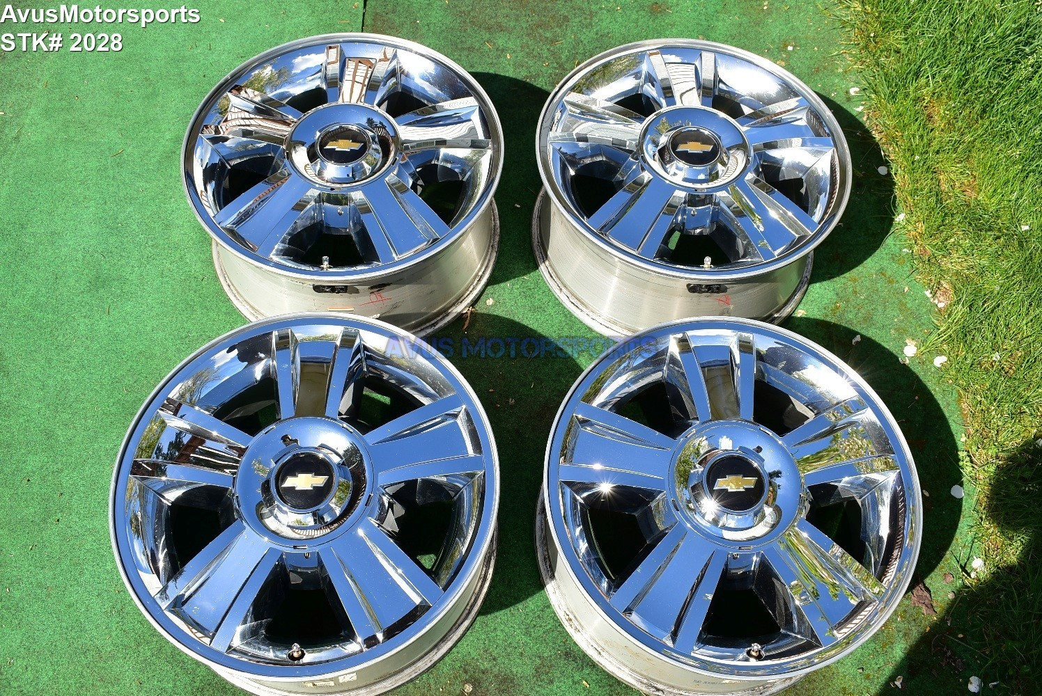 "20"" Chevrolet SILVERADO 1500 OEM FACTORY Chrome WHEELS TAHOE GMC Sierra Yukon"