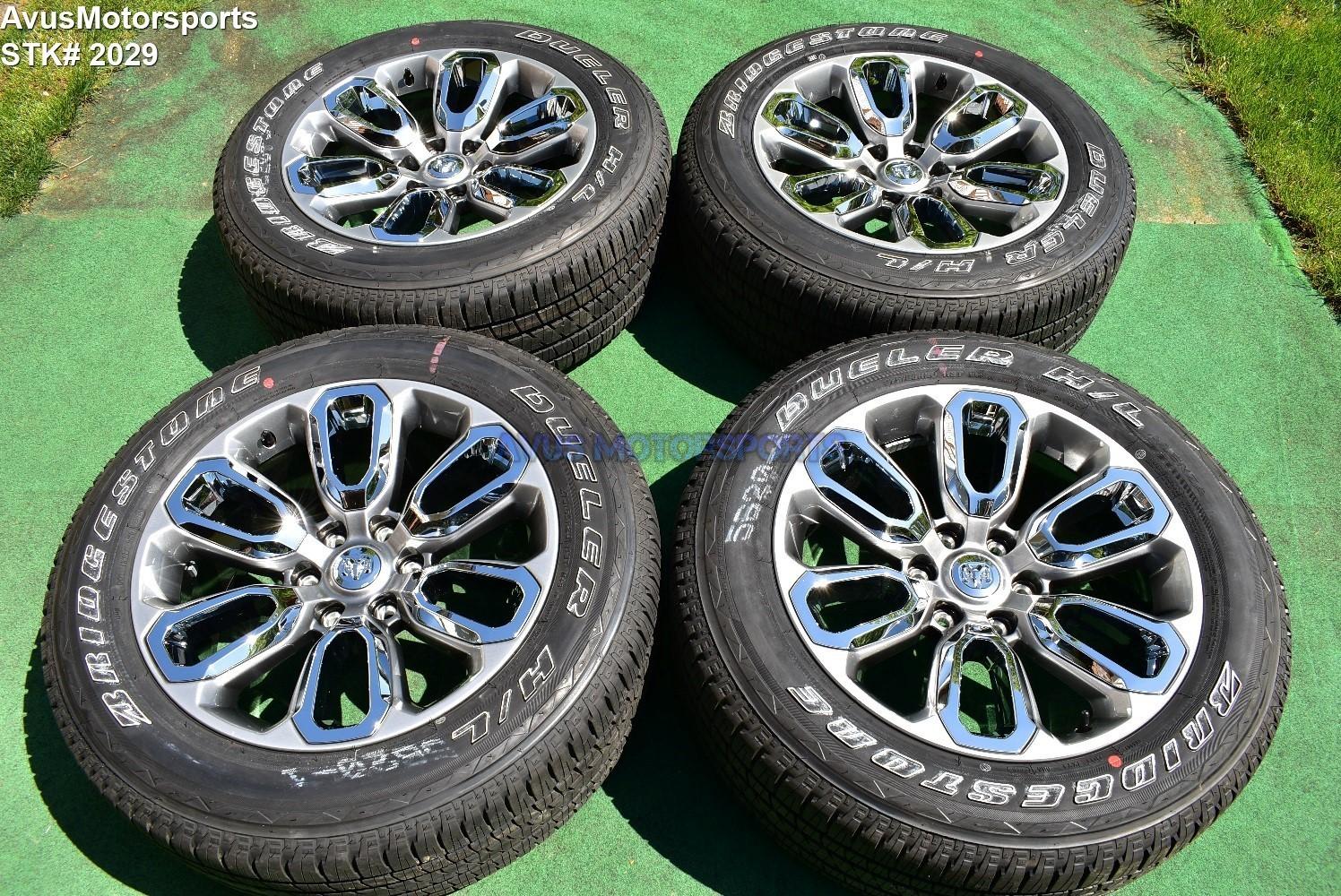 "20"" Dodge Ram 1500 Laramie OEM Factory sport appearance package Wheels 2019 tire"