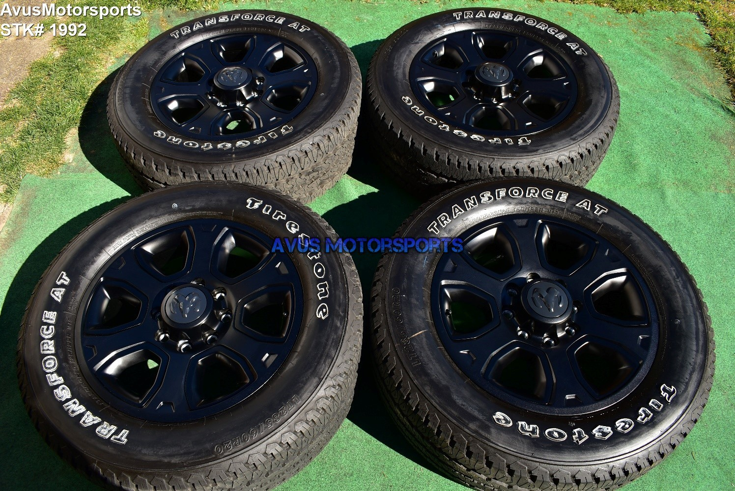 "20"" Dodge Ram Night Edition OEM Factory Black Wheels Tires  2500 3500 2019 2018"