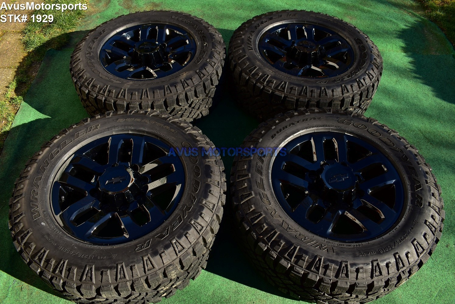 "18"" Chevy Silverado Midnight Ed GMC Sierra 2500 3500 OEM WHEELS TIRES black 2019"