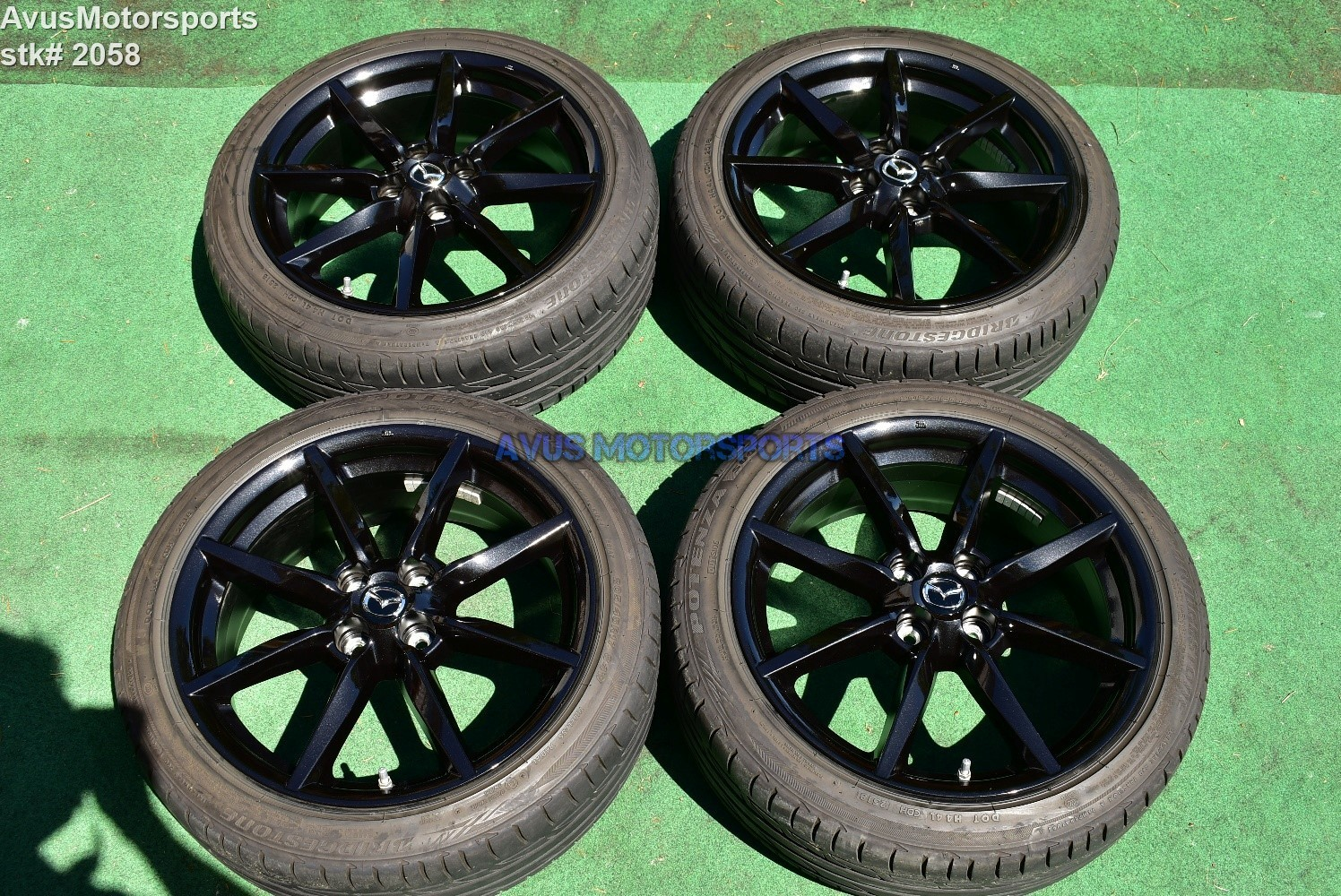 "17"" Mazda MX-5 Miata ND OEM Factory Dark Charcoal Wheels 205/45r17 Tires 2019"