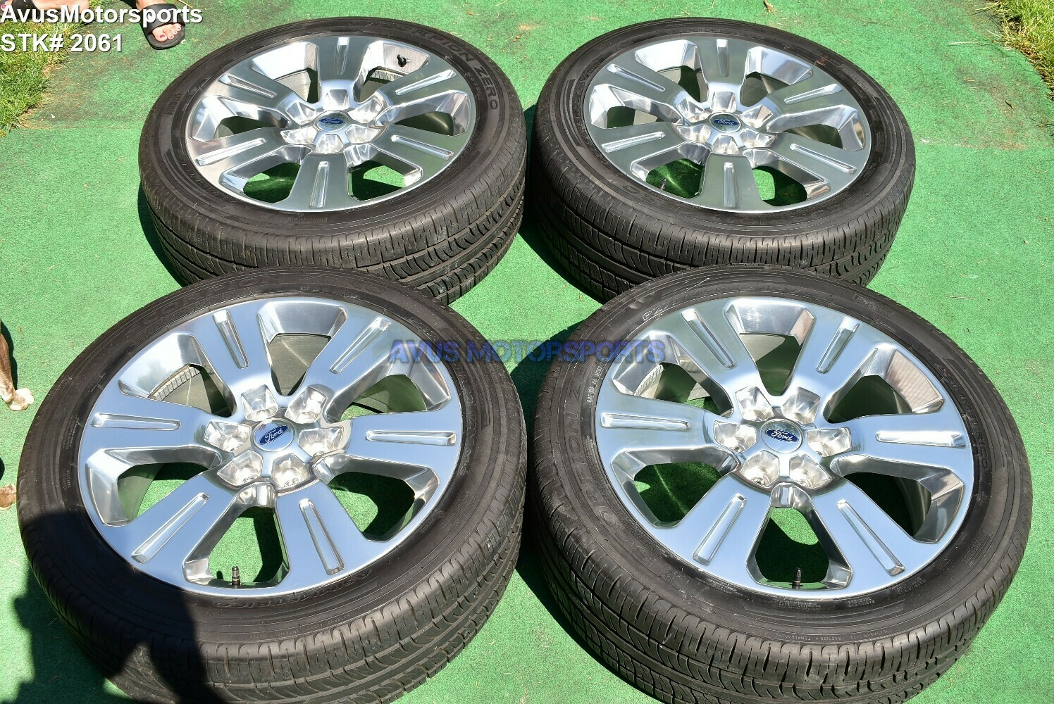 """22"""" Ford F150 Limited OEM Factory Polished Wheels & Tires Expedition 2016 2017"""
