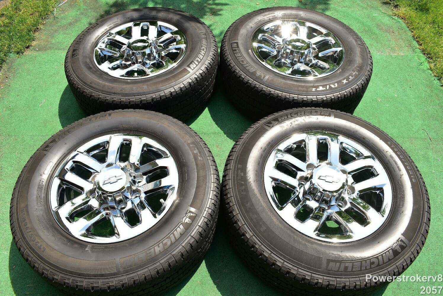 "18"" Chevy Silverado GMC Sierra 2500 3500 OEM WHEELS TIRES  chrome 2015 2016"