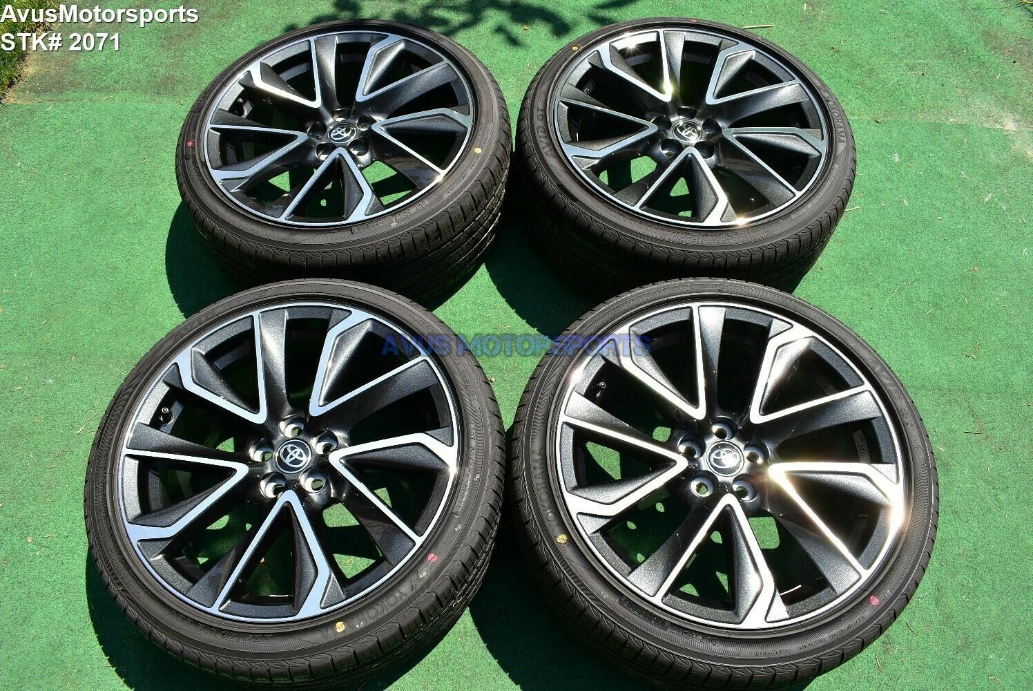 "18"" Toyota Corolla XSE Factory OEM Wheels Yokohama 225/40R18 Prius 2019 5x100"
