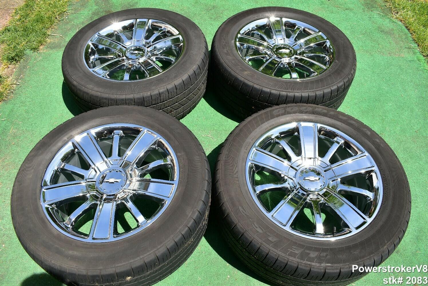 "20"" Chevy Silverado 1500 High Country GMC Sierra OEM Chrome WHEELS Tahoe Yukon"