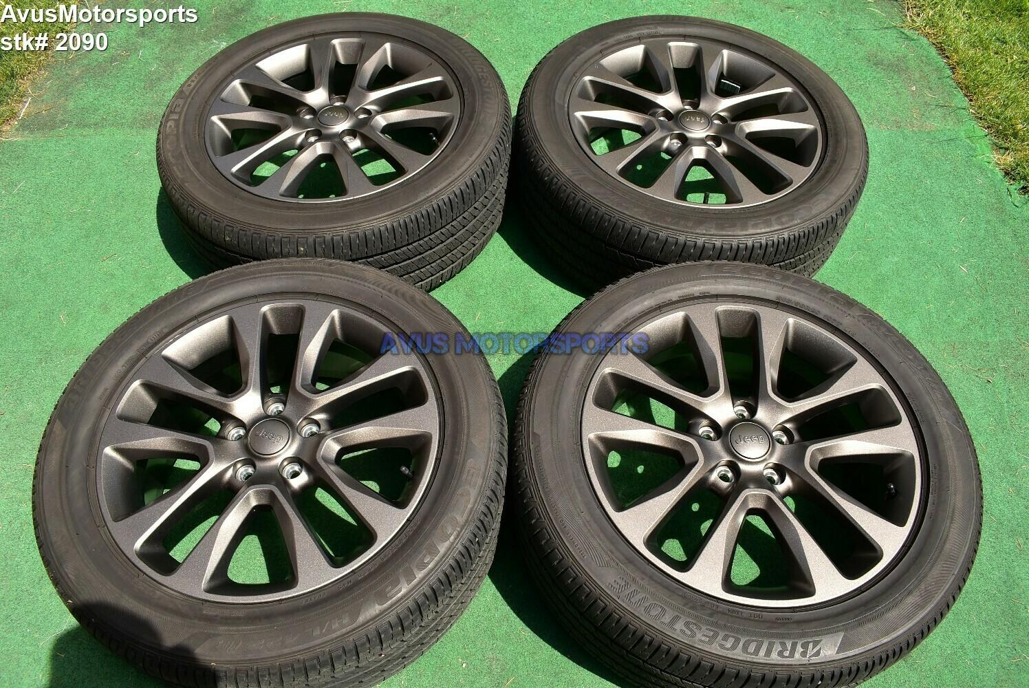 "20"" Jeep Grand Cherokee High Altitude OEM Factory Genuine Wheels Tire 5XL06TRMAA"