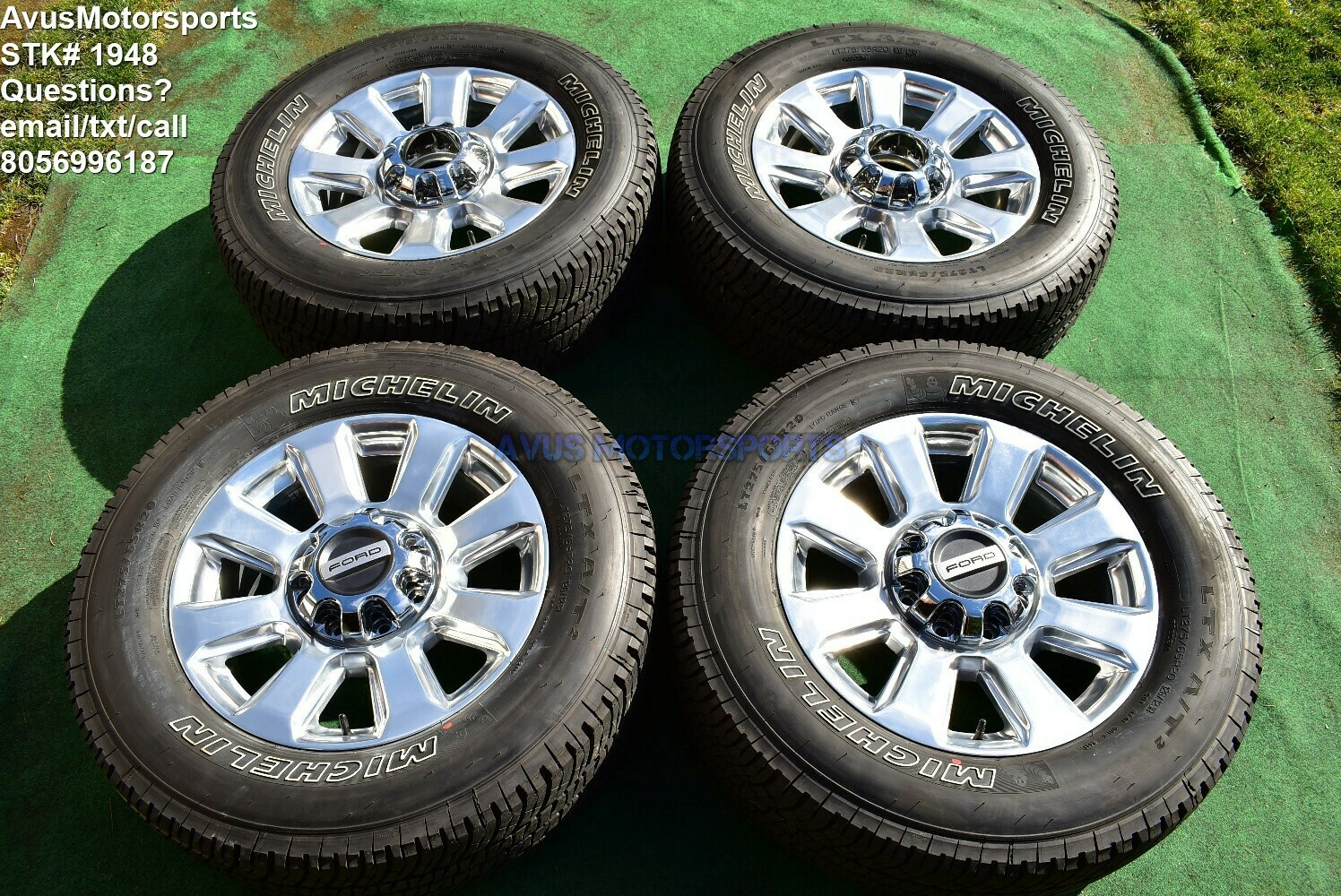 "20"" Ford F350 Super Duty Platinum OEM Factory Polished Wheels F250 2018 2019"