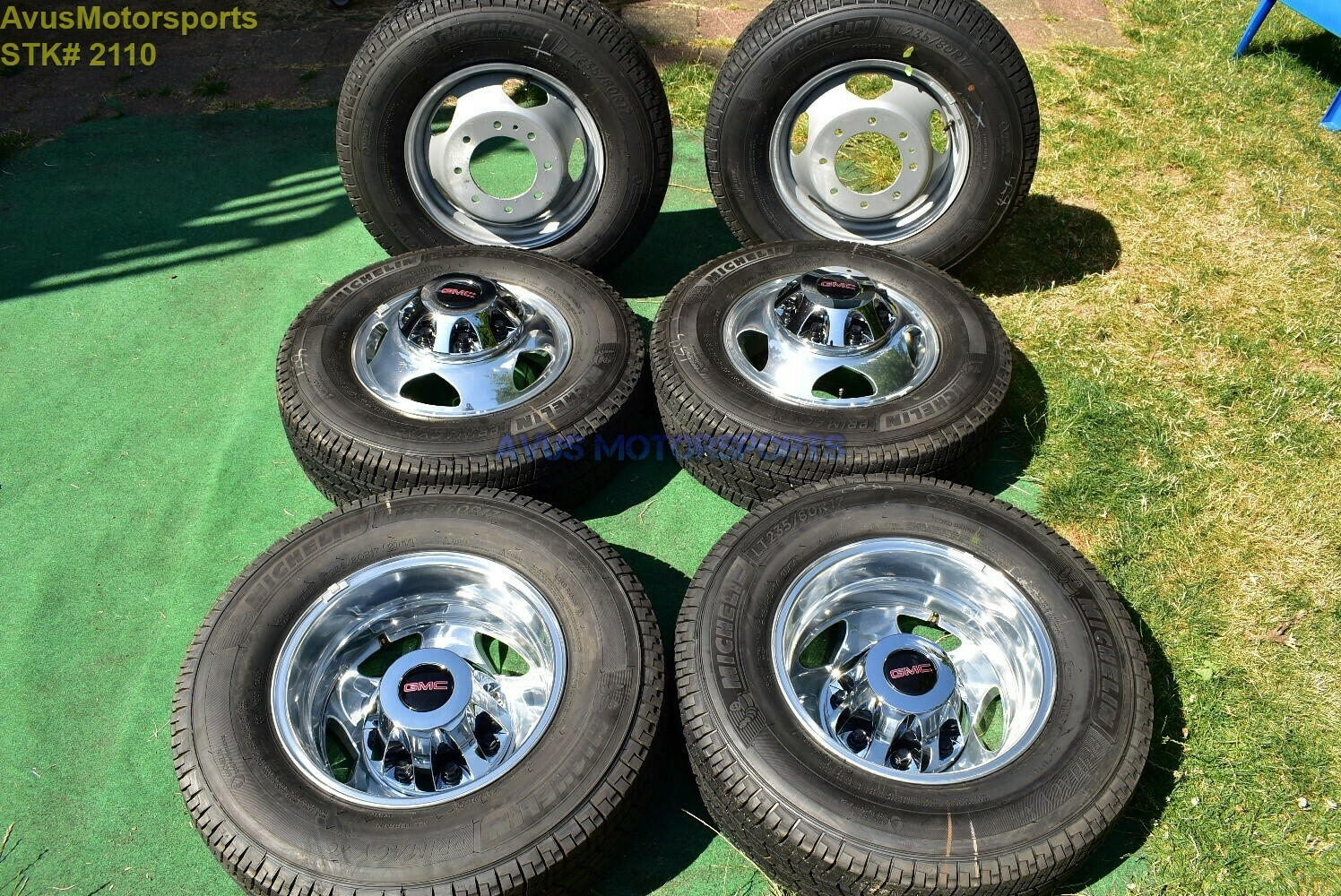 "17"" GMC Sierra Denali 3500 OEM Dually Alloy WHEELS TIRE Chevy Silverado 2019 DRW"
