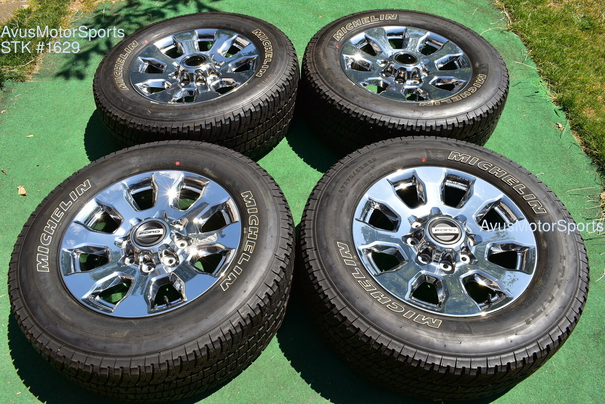 "20"" Ford F250 F350 Super Duty Lariat OEM Factory Chrome PVD Wheels 2017"
