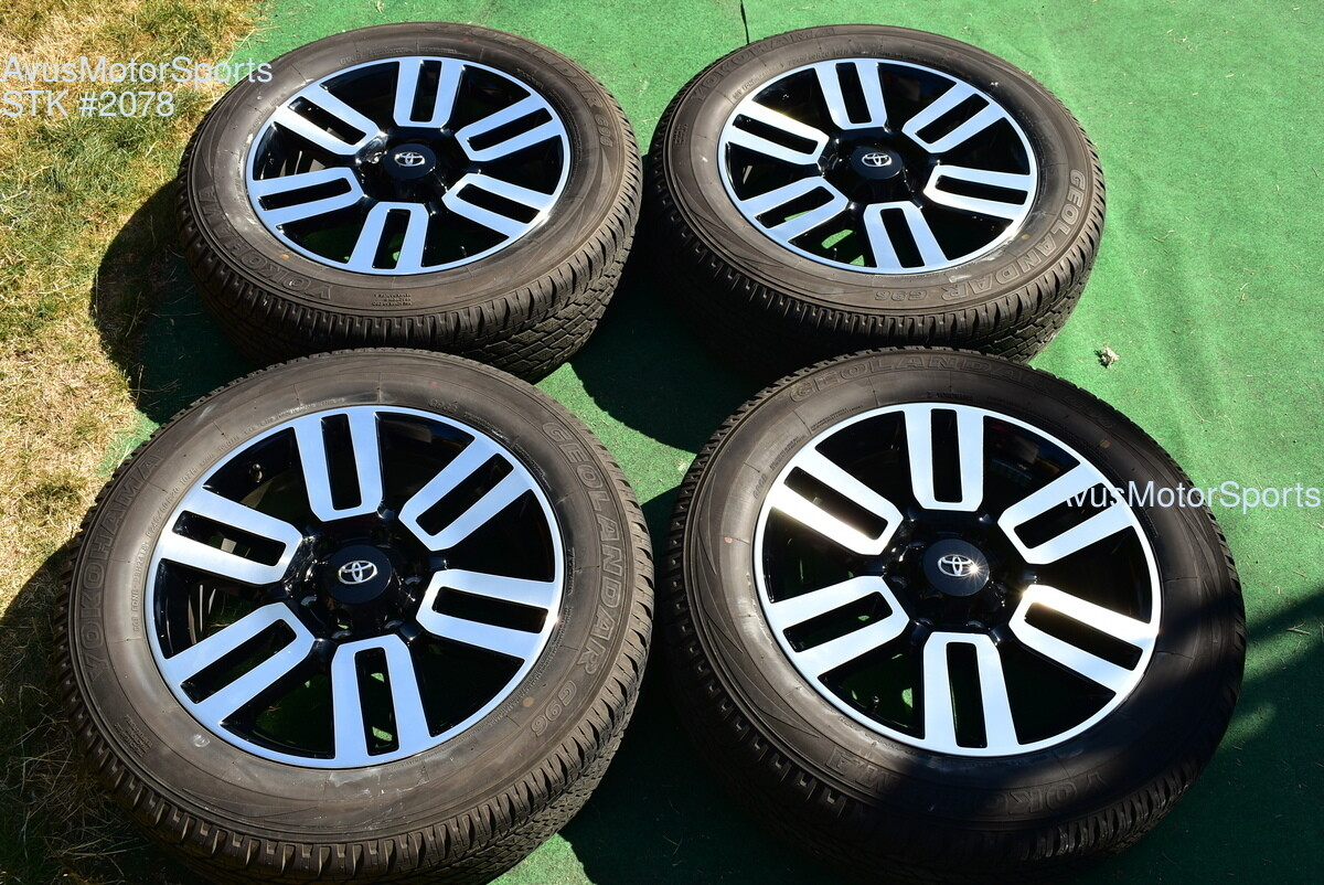 "20"" TOYOTA 4RUNNER Limited 2018 2019 OEM FACTORY WHEELS TIRES Tundra Tacoma"