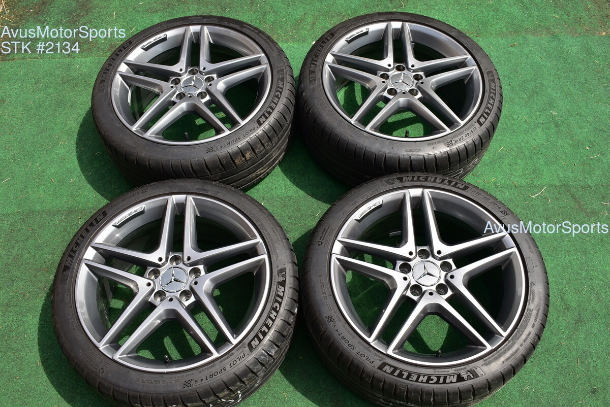 "18"" Mercedes BENZ CLA45 AMG CLA250 Factory OEM Wheels Michelin tires 1764010000"