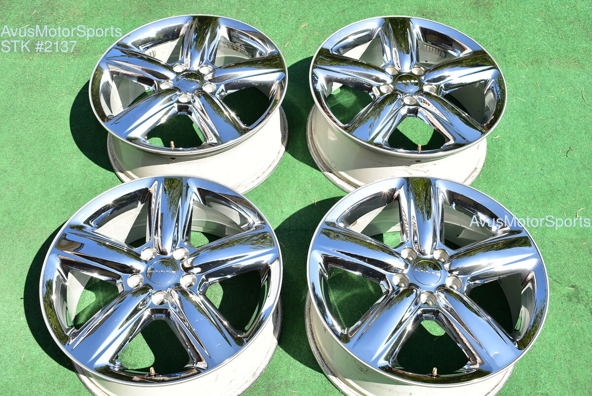"20"" Dodge Durango OEM Factory Chrome Clad Wheels 2011 2012 2013 1HQ21TRMAC"