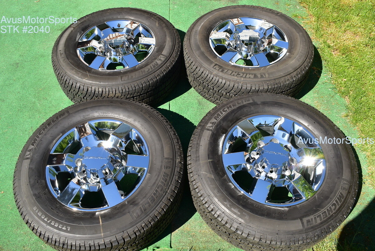 "18"" GMC Sierra Denali 2500 3500 OEM WHEELS TIRES Chevy Silverado chrome 2018"