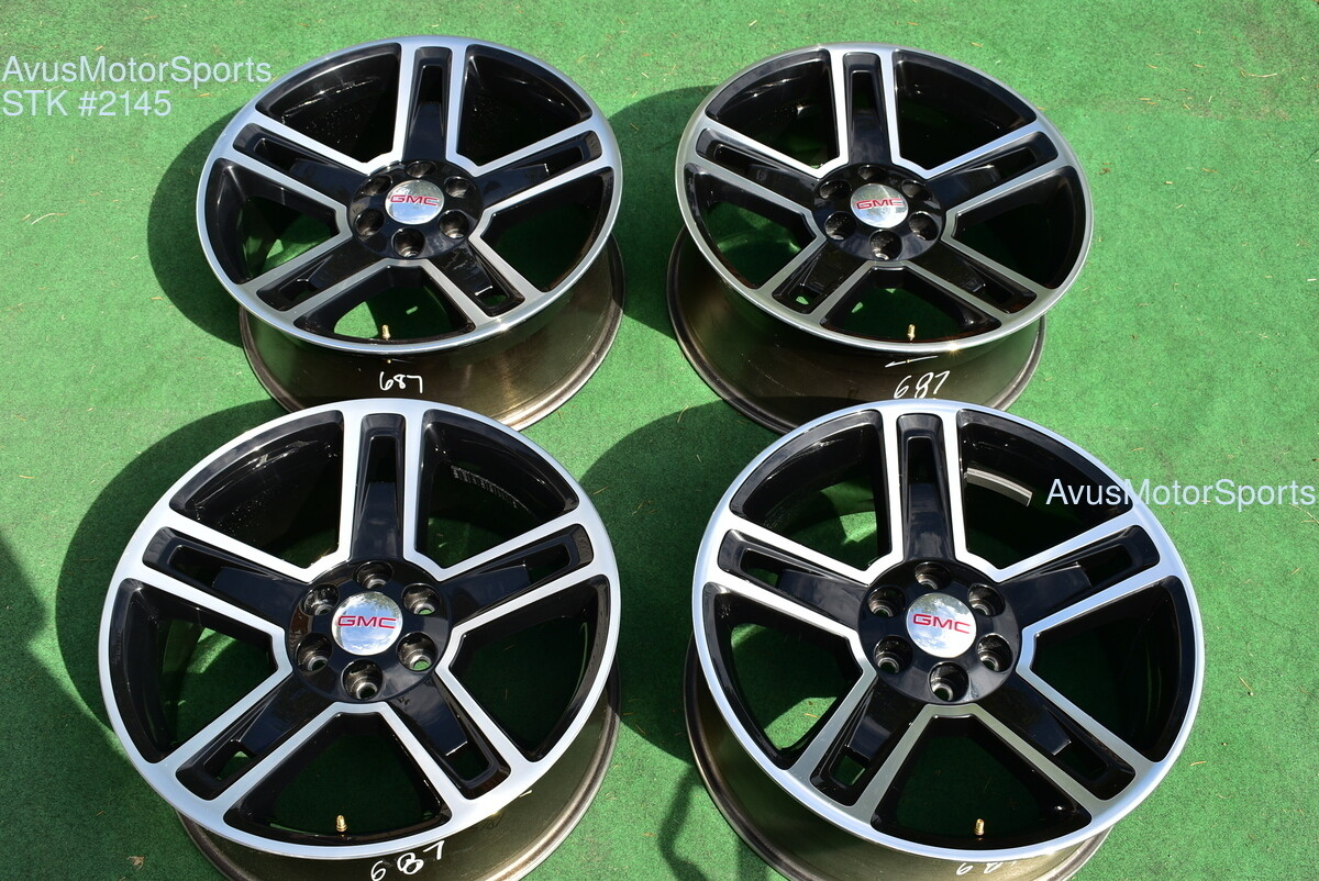 "22"" GMC Sierra Carbon Ed OEM FACTORY WHEELS TAHOE SILVERADO 1500 Rally Yukon"
