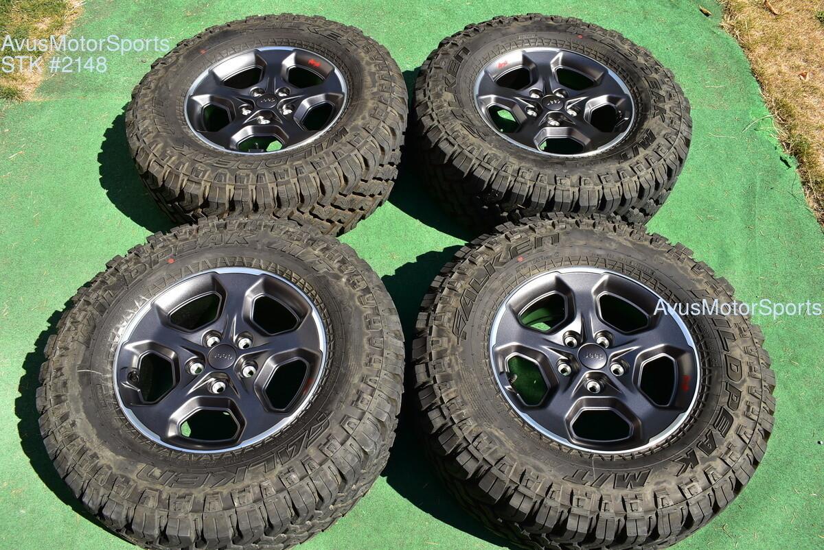 "17"" Jeep Gladiator OEM Mopar Factory Wheels M/T Tires Rubicon Wrangler JK JL"