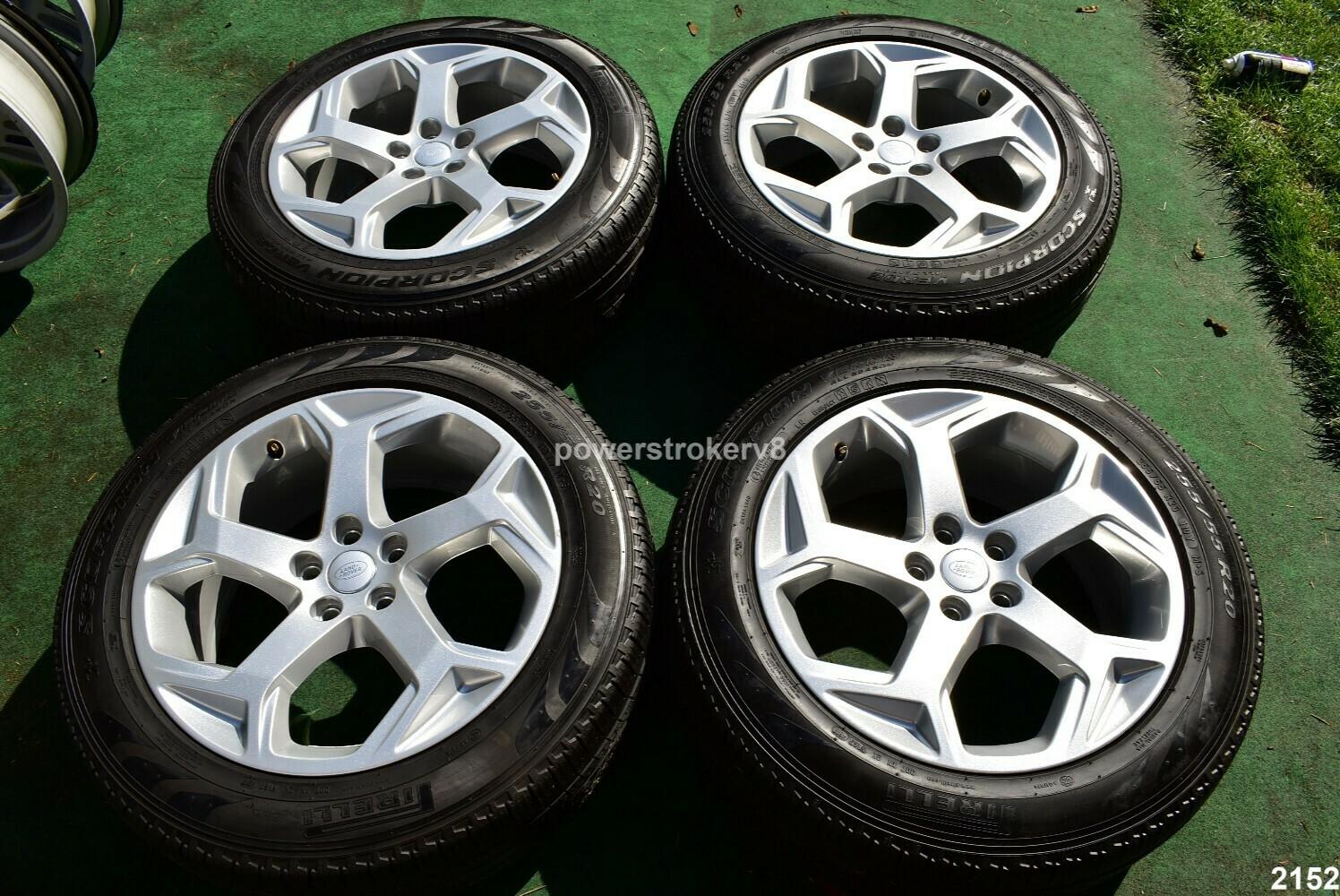 "20"" Range Rover Sport OEM Wheels Tires 2018 2019 Land Silver"