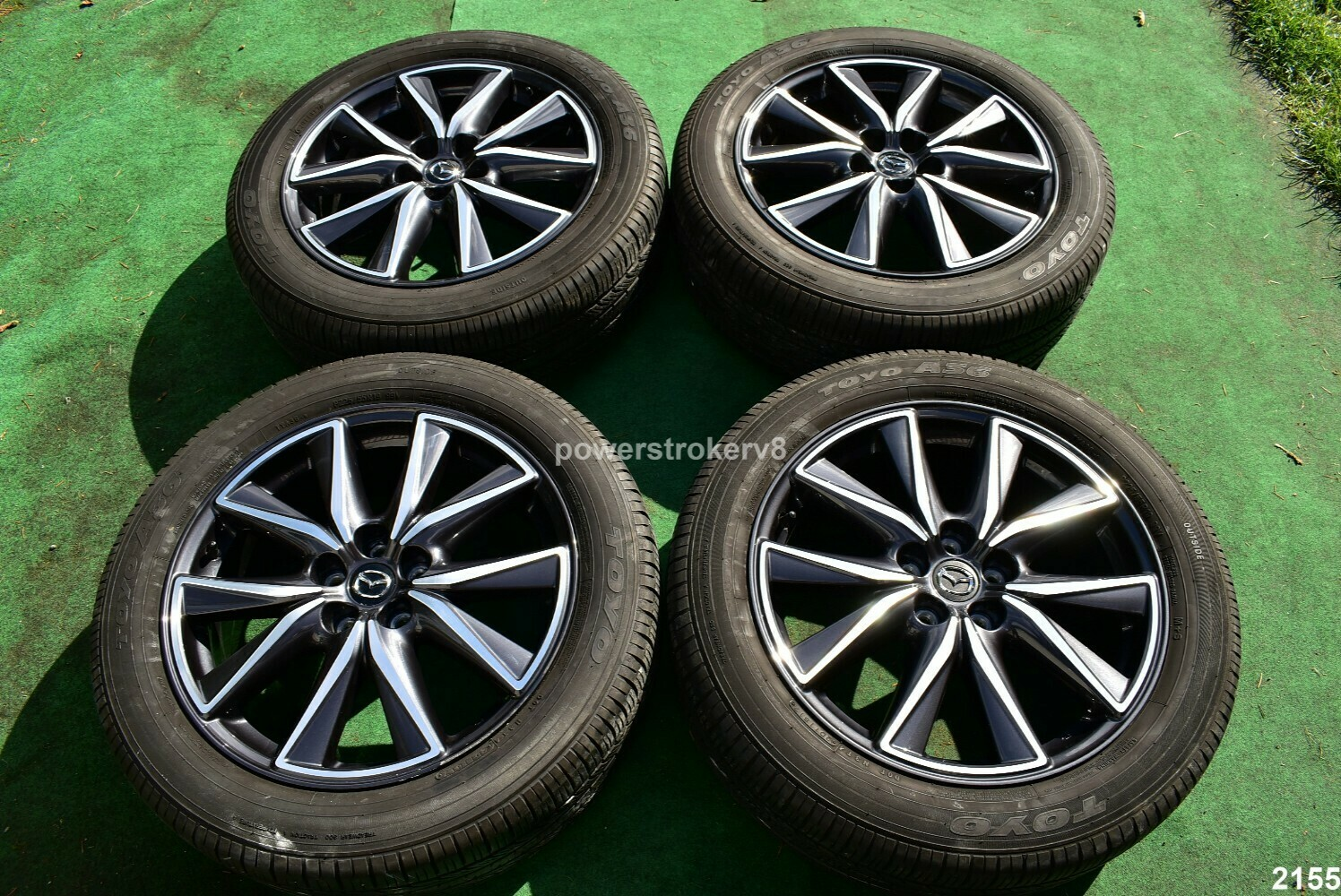 "19"" Mazda CX-5 OEM Factory Wheels and Toyo Tires  p225/55r19 CX5 2017 2018"