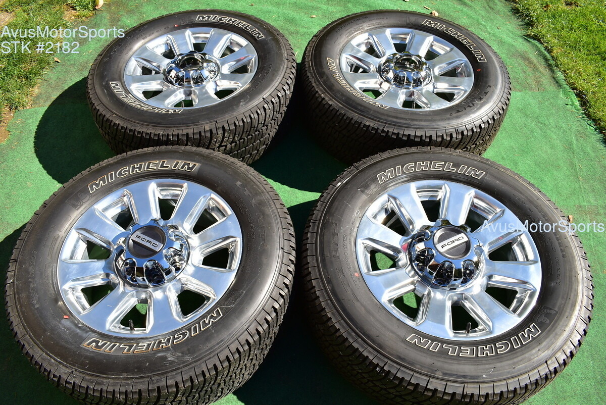"20"" Ford F350 Super Duty Platinum Wheels OEM Factory Polish F250 2018 2019 TPMS"