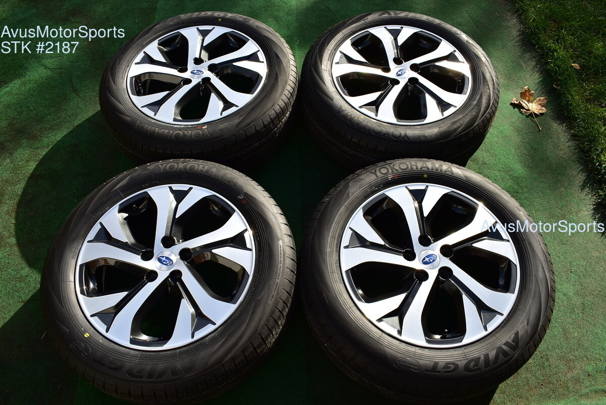 "18"" Subaru Outback Limited OEM Factory Wheels 225/60R18 Tires 2020"