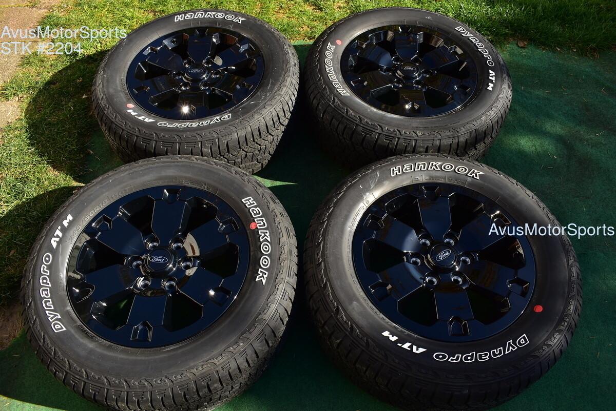 "18"" Ford Ranger OEM Factory black Wheels FX4 Lariat Tires 2019 appearance pack"