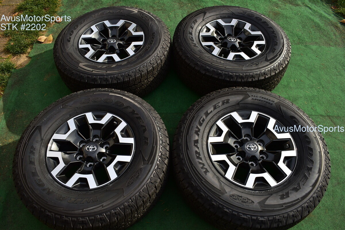 """16"""" TOYOTA TACOMA OEM FACTORY TRD OFFROAD WHEELS Tires 4runner Tundra 2019 TPMS"""