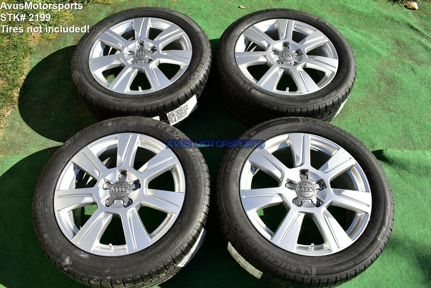 """17"""" Audi A6 OEM Wheels 2009 2010 2011 S6 C6 part# 4F0601025CG A4 B4 B5 B6 B7"""