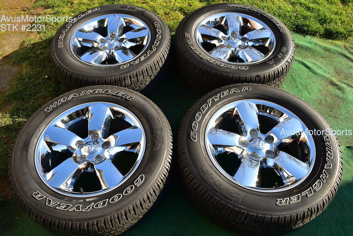 "20"" Dodge Ram 1500 Big Horn OEM Factory Chrome Clad Wheels Tires 2019 2018 TPMS"